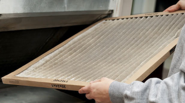 Dirty home air filters